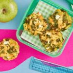 Caitlin Bassett's Feta & Kale Puffins (Pasta Muffins)