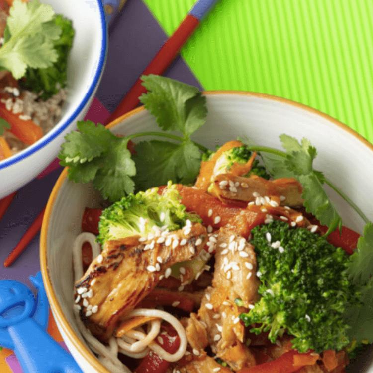Asian Chicken & Noodle Stir-Fry