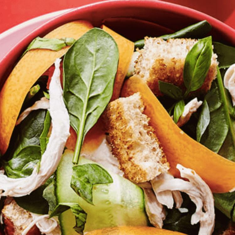 Chicken Salad Bowl With Crispy Chickpeas