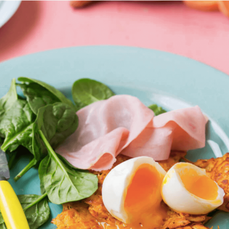 Sweet Potato Hash Browns With Eggs And Ham